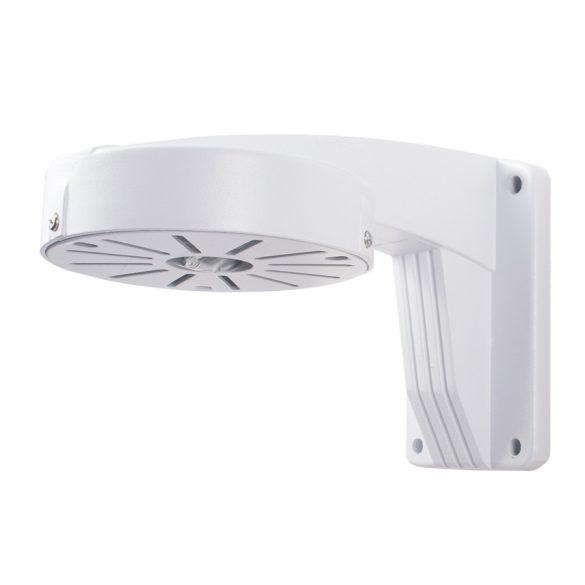 Fehér alumíniumötvözet falra szerelhető konzol Dome kamerához