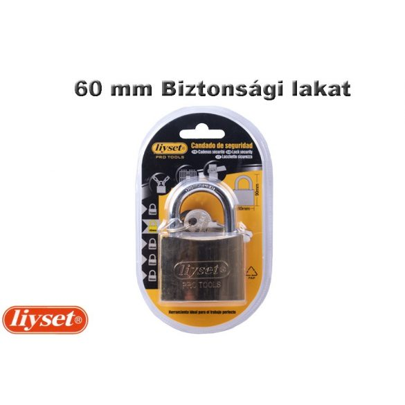 LIYSET 60 mm Biztonsági lakat