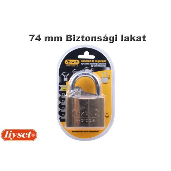 LIYSET 74 mm Biztonsági lakat