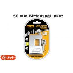 """LIYSET 50mm """"U"""" biztonsági lakat, ezüst színű"""