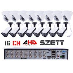 16 kamerás AHD rendszer 2.0 MegaPixel, dome / csőkamerákkal