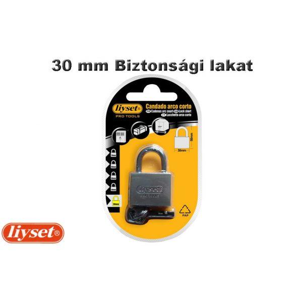 LIYSET 30 mm Biztonsági lakat, ezüst sínű