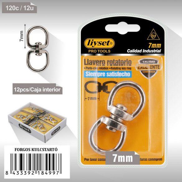 Dupla szemű forgó gyűrűk ezüst fém 7mm
