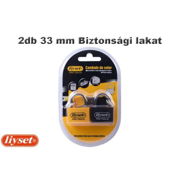 LIYSET 2db 33 mm Biztonsági lakat