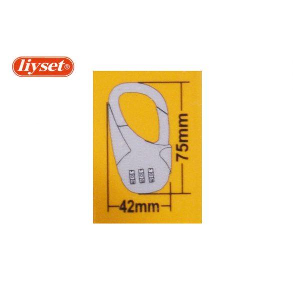 LIYSET 42 mm 3 Számzáras lakat sárga-fekete