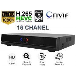 16 csatornás NVR rögzítő 2MP 1080P