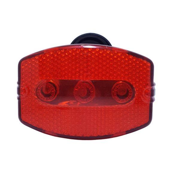 Kerékpár hátsó villogó LED lámpa, elemes