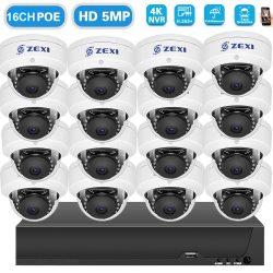 16 KAMERÁS 5MP/ IP/ PoE SWITCH /AI DOME KAMERA RENDSZER H.265 ONVIF
