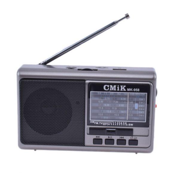 Hordozható, akkumulátoros multimédia lejátszó MP3 USB / TF / FM rádió