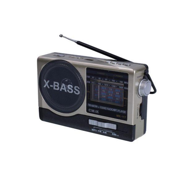 Akkumulátoros hordozható multimédia lejátszó MP3 USB / TF / FM rádió