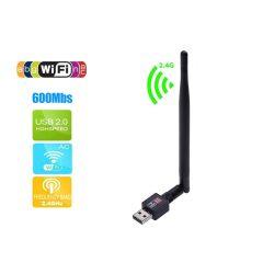 USB 2.0 nagy sebességű Wifi adapter 2.4GHz hálózati LAN-kártya 5dBI antennával asztali számítógéphez