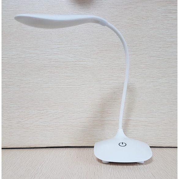 Érintéskapcsolós, rugalmas LED asztali lámpa, hordozható olvasólámpa, otthoni, iroda