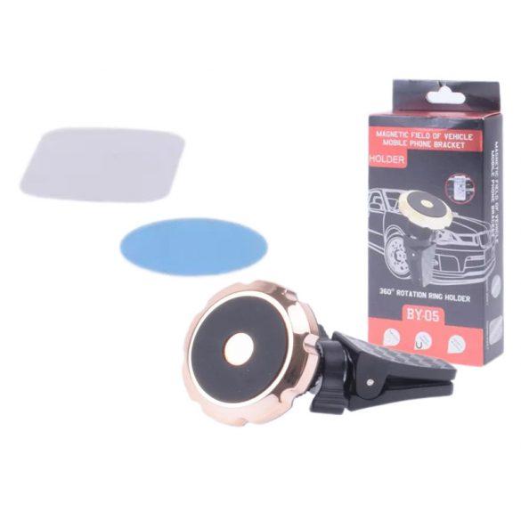 Csipeszes 360° forgatható mágneses telefontartó