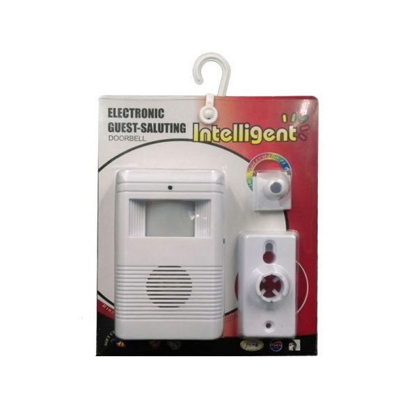 Intelligens vezeték nélküli infravörös érzékelő, elektronikus vendégköszöntő csengő - fehér