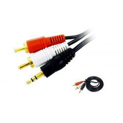 3,5 jack   2xRCA kábel
