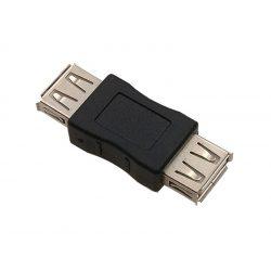 USB 2.0 toldó adapter anya-anya fekete