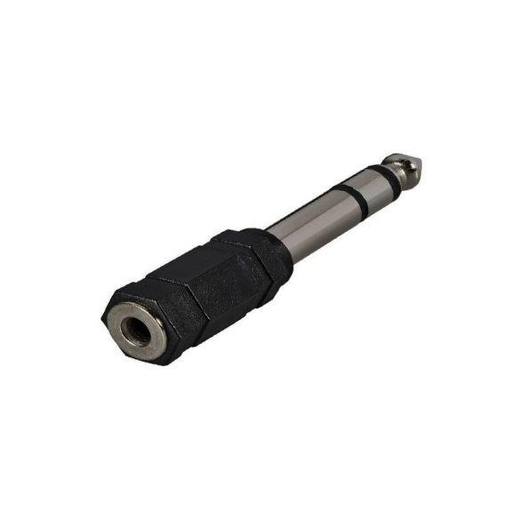 Jack dugó átalakító adapter 3.5 mm sztereo Jack aljzat - 6.35 mm sztereo Jack dugó