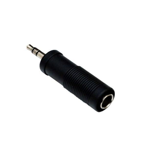 Jack dugó átalakító adapter 3.5 mm sztereo Jack dugó - 6.35 mm sztereo Jack aljzat