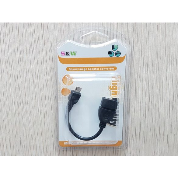 2.0 USB anya - Micro USB apa 10cm átalakitó kábel