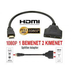 1080P HDMI elosztó 30cm 1 bemenet 2 kimenet