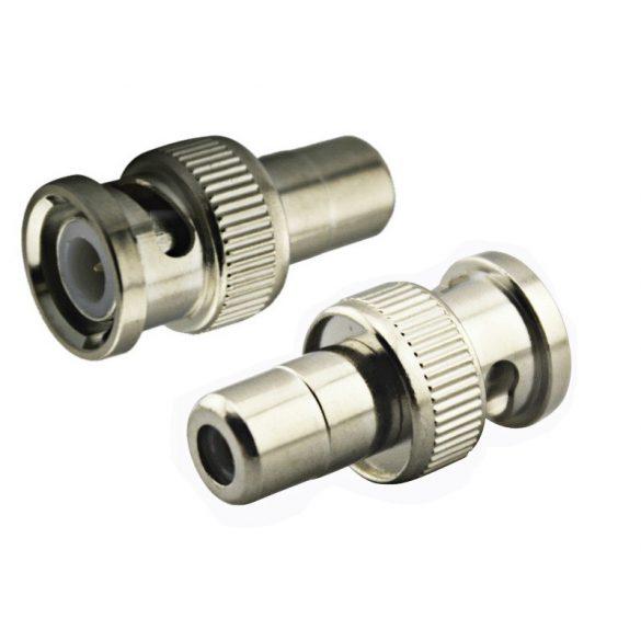 BNC dugó - RCA aljzat átalakító adapter