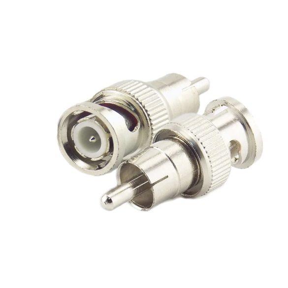 BNC dugó - RCA dugó átalakító adapter