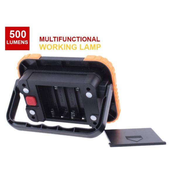 Hordozható,  mágneses LED munkalámpa  ütésálló, vízálló