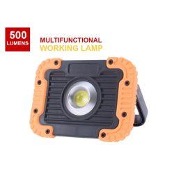 Hordozható,  mágneses COB LED munkalámpa  ütésálló, vízálló