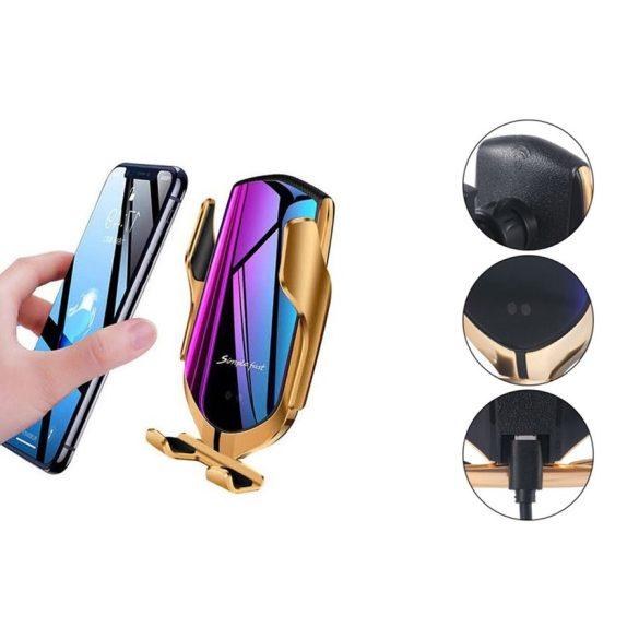 Smart Sensor R1 autós telefontartó és vezeték nélküli töltő egyben