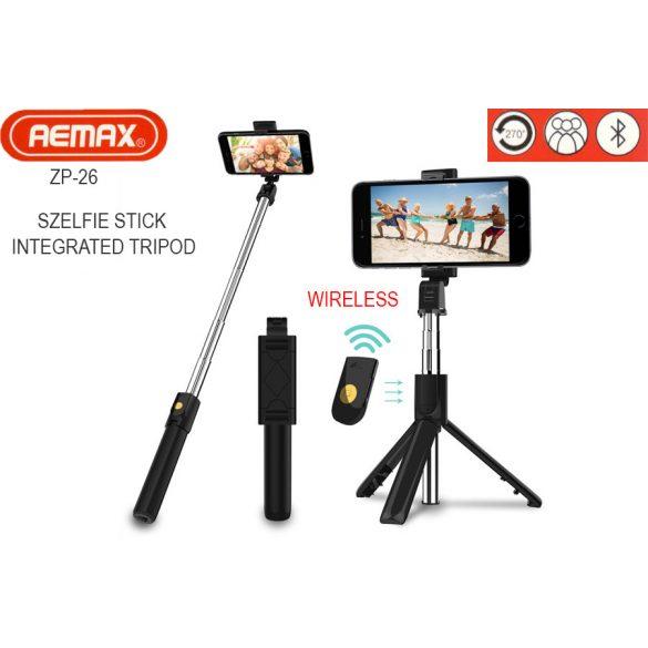 Remax Z26 szelfi bot tripod állvány, vezeték nélküli Bluetooth távirányítóval, 3 az 1-ben