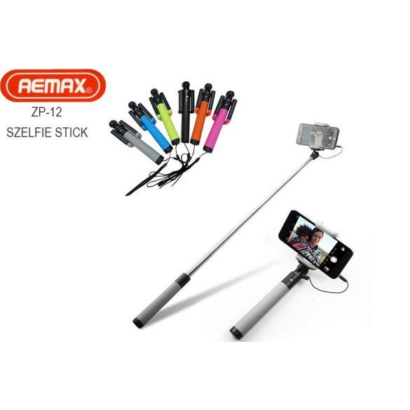 Remax ZP-12 Színes vezetékes jack dugós szelfi bot Összecsukható szelfi bot mobiltelefonhoz