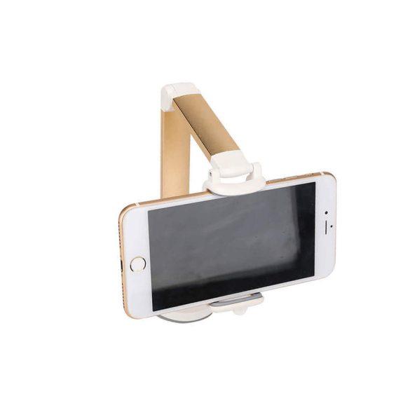 Hosszú fogantyúval, összecsukható 360 fokos elforgatható, univerzális mobiltelefon állvány asztali autó tartóhoz