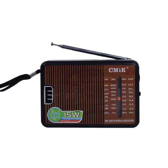 Magas érzékenységú 4 sávos rádióFM/AM/SW1-2