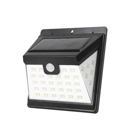 40 LED-es napelemes fali lámpa mozgás- és fényérzékelővel / PIR+CDS szenzor