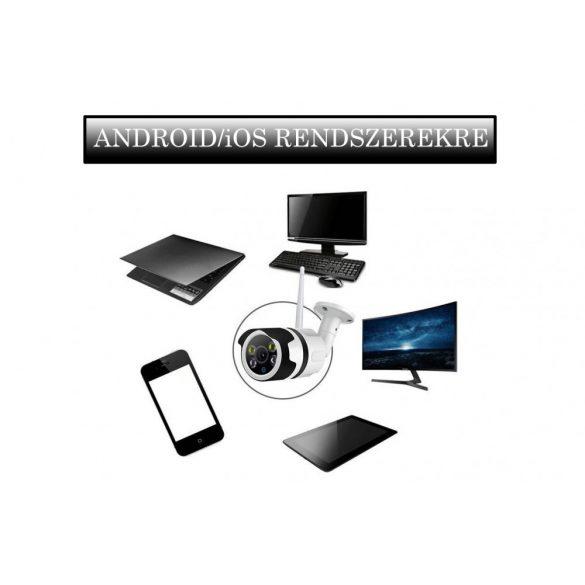 1MP Wi-Fi-s, ÉJJEL SZÍNESEN LÁTÓ BIZTONSÁGI KAMERA