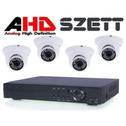 4 Kamerás rendszer 2Mp-es AHD kültéri/beltéri Fehér dómkamerával