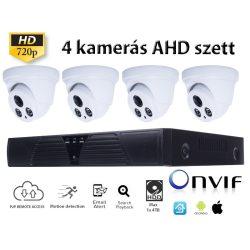 BELTÉRI 4 DOME KAMERÁS HD 1.0MP (720P) AHD SZETT