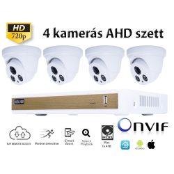 BELTÉRI 4 DOME KAMERÁS HD 1.0MP (720P) AHD SZETT, fehér
