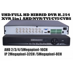 UHD/FULL HD HIBRID DVR RÖGZITŐ H.264 2MP/3MP/4MP/5MP