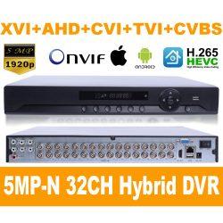 5MP-N 32CH 5IN1 XVI/AHD/TVI/CVI/CVBS  DVR RÖGZITŐ,  H.265 /H.265+