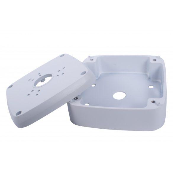 Alumínium Kültéri szerelődoboz 130*130*52mm