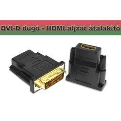 DVI - HDMI-kompatibilis adapter DVI-D 24 + 1 dugó HDM aljzat átalakító