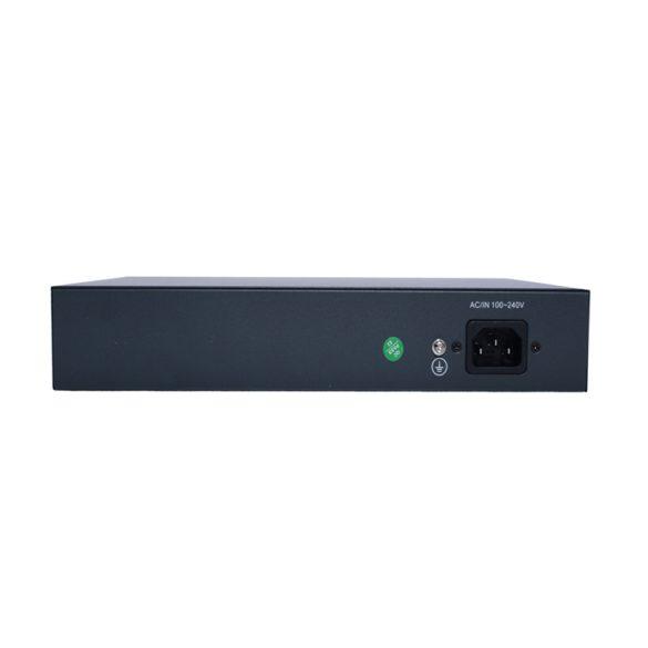 16 portos 10/100/1000Mbps PoE kapcsoló VLAN nagy távolságú 250 m-es IP-kamera hálózati adatátvitelhez OEM ODM