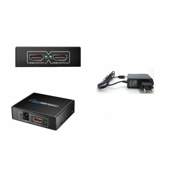 2 Port 1.4 Hdmi Splitter 3D  1080P 1x2 HDMI Switch DC 5V
