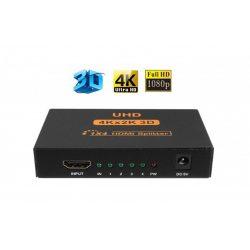 4 csatornás Full 3D/4K/2K HDMI splitter