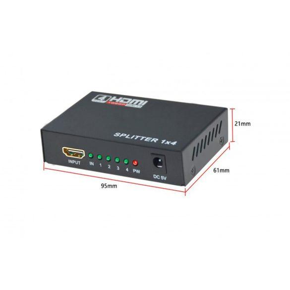 4 Port 1.4 Hdmi Splitter 3D 1080P 1x4 HDMI DC 5V
