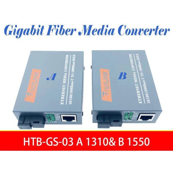 1 Pár Gigabites Ethernet száloptikai átalakító 1000Mbps 1KM