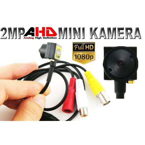 2MP 1080P AHD kamera 3,7 mm-es lencsével, mikrofonnal