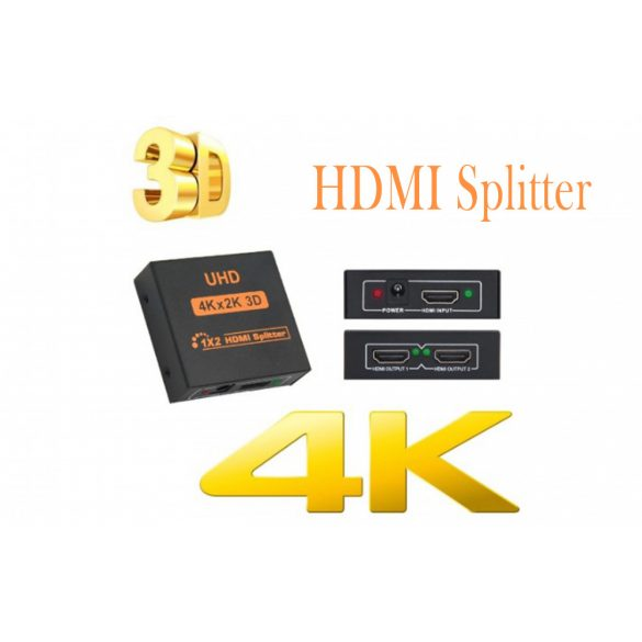 2 PORT Full HD 3D/4K/2K HDMI splitter