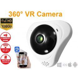 2MP WiFi panoráma kamera IP 180° fokos halszem Irodai biztonság Mini CCTV